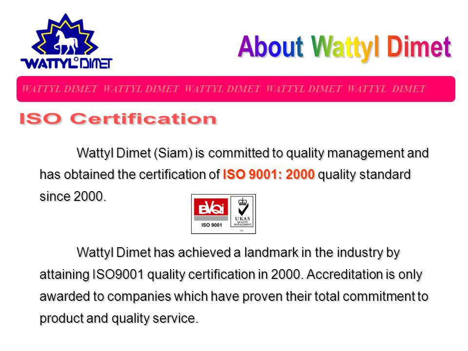 About Wattyl Dimet ISO Certification