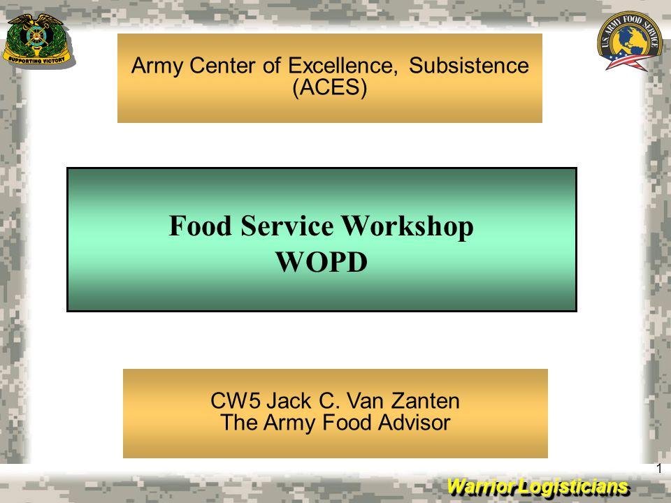 Food Service Workshop WOPD