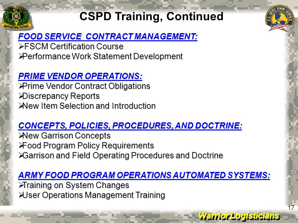 CSPD Training, Continued