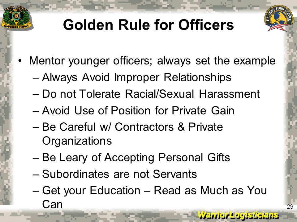 Golden Rule for Officers