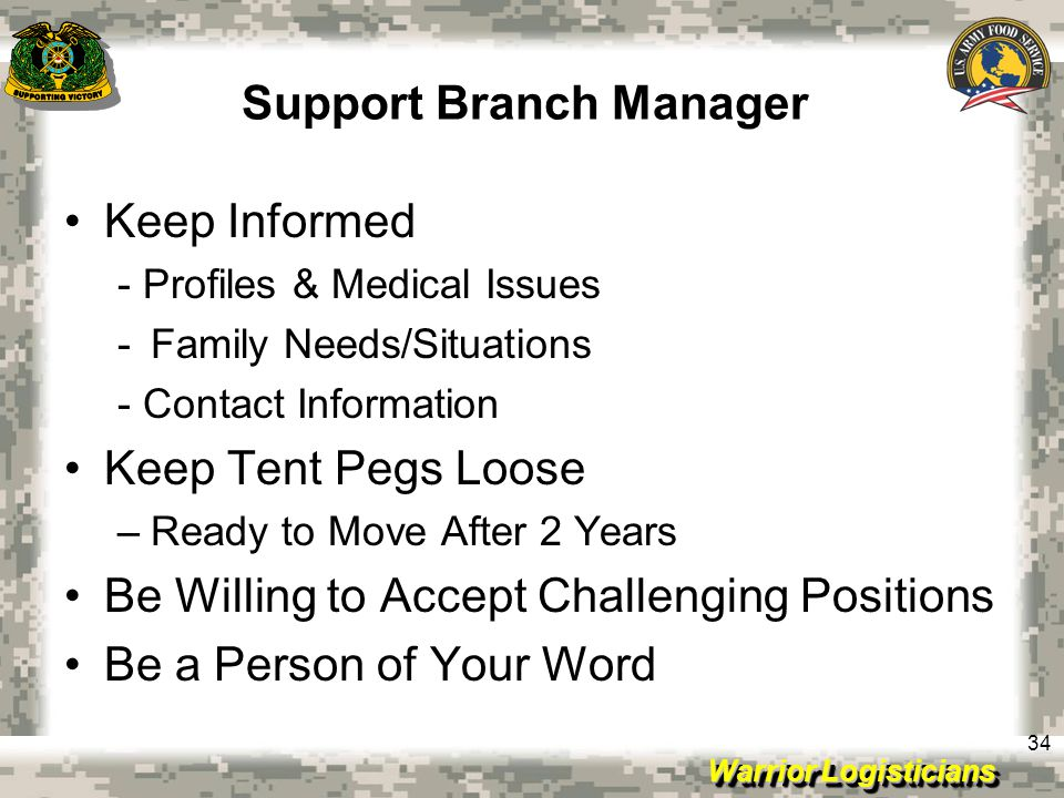 Support Branch Manager
