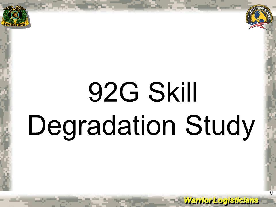 92G Skill Degradation Study