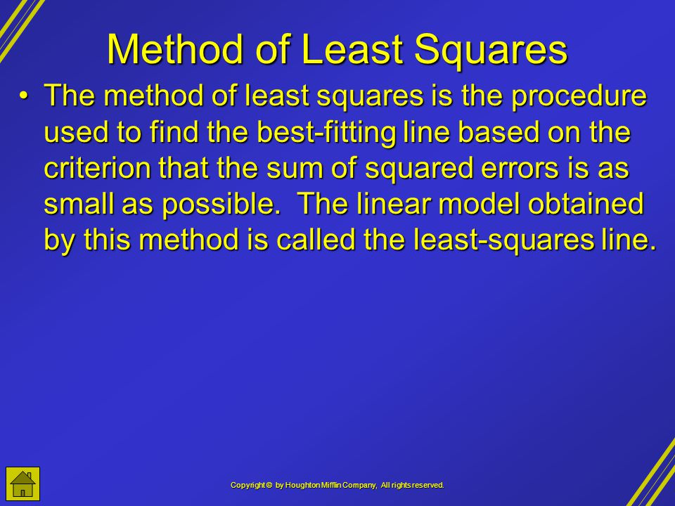 Method of Least Squares