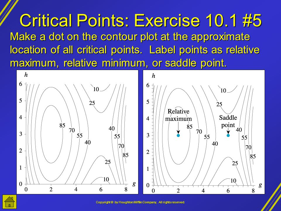 Critical Points: Exercise 10.1 #5