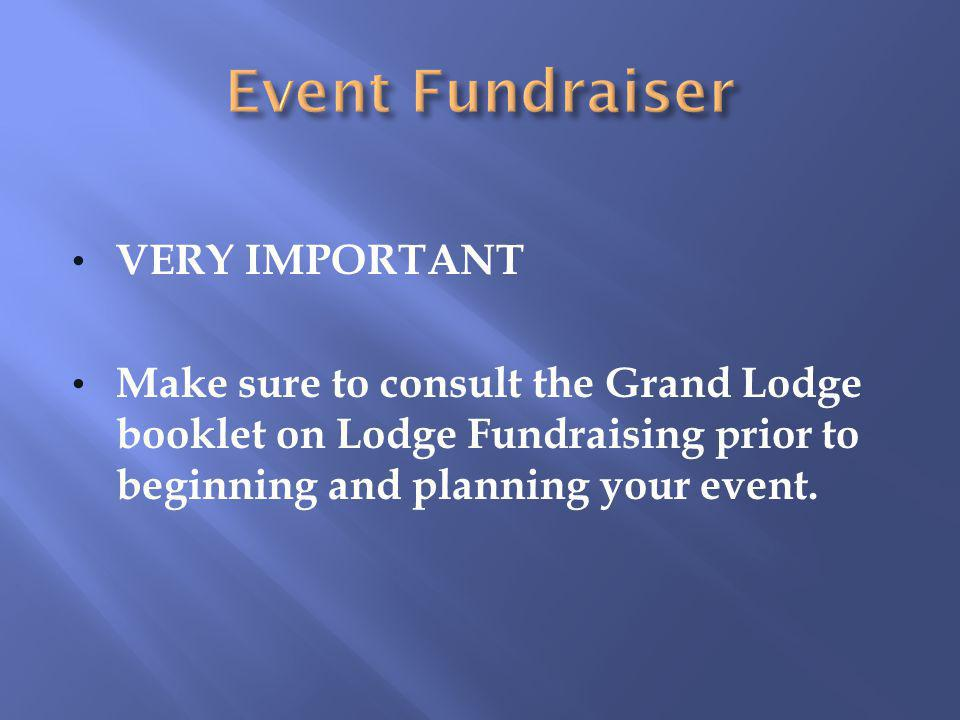 Event Fundraiser VERY IMPORTANT