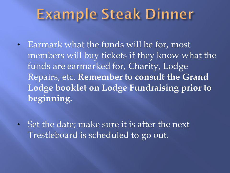 Example Steak Dinner
