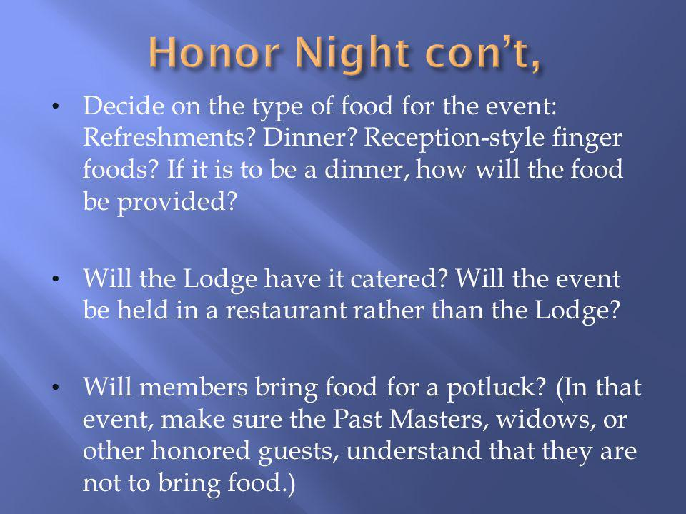 Honor Night con't,