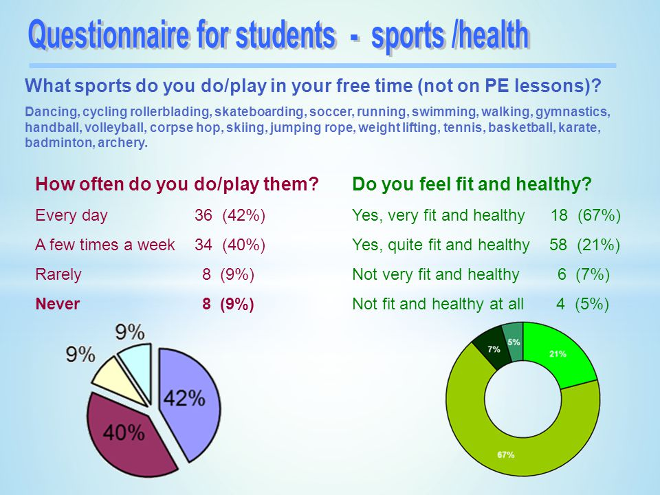 Questionnaire for students - sports /health