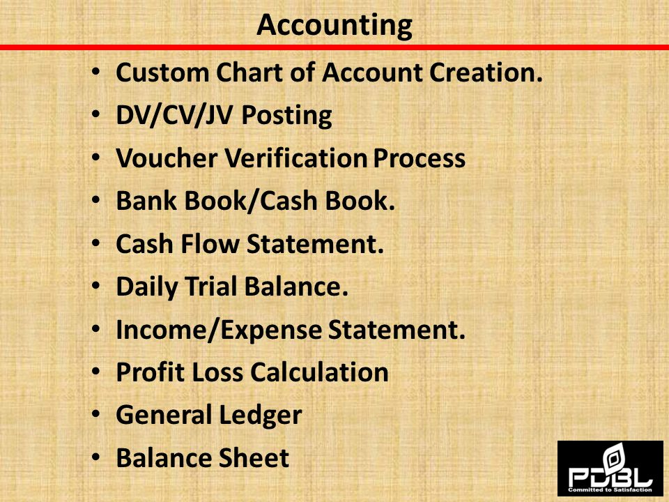 Accounting Custom Chart of Account Creation. DV/CV/JV Posting