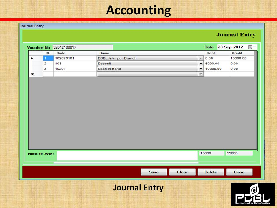 Accounting Journal Entry