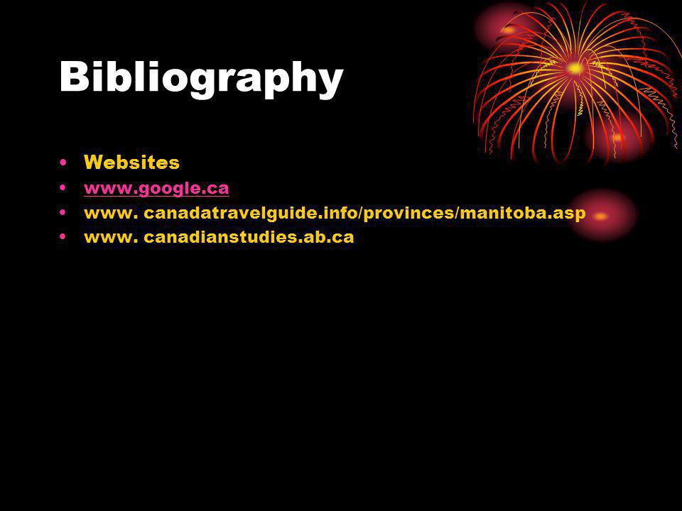 Bibliography Websites www.google.ca
