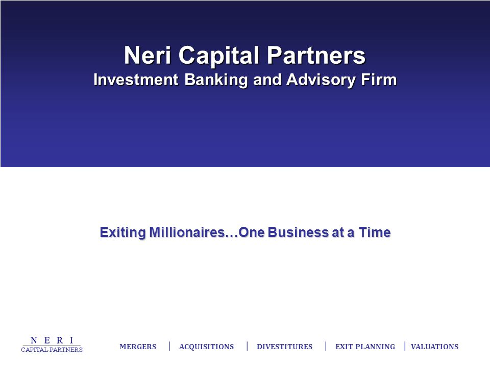 Neri Capital Partners Investment Banking and Advisory Firm