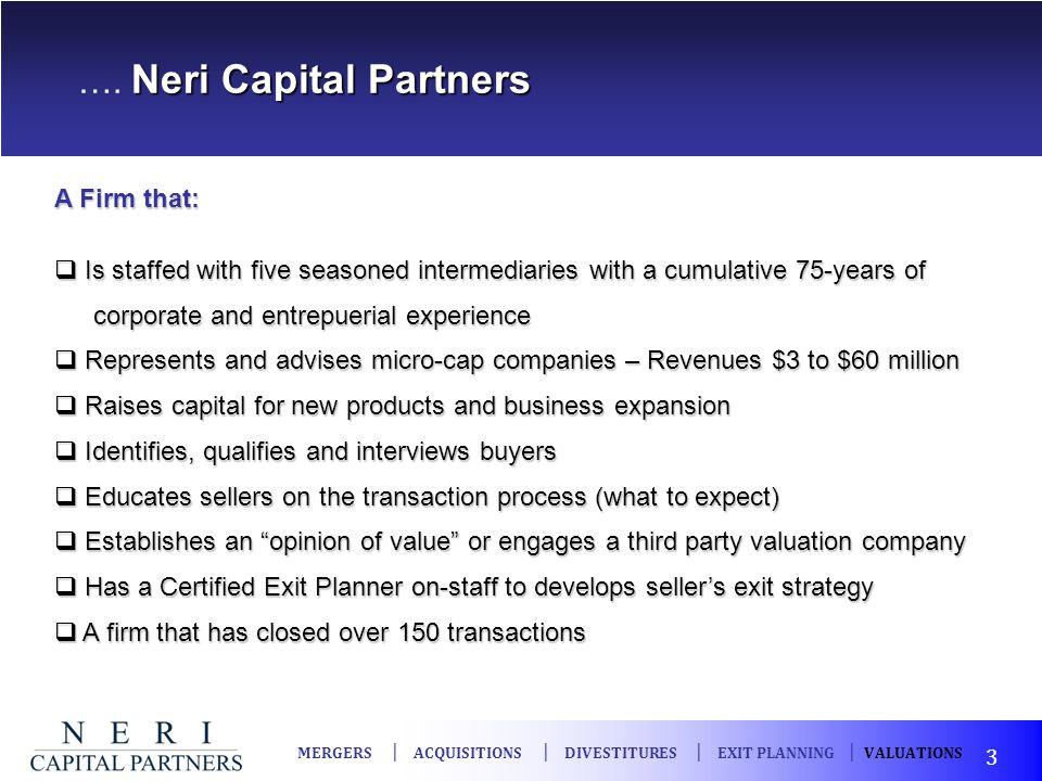 …. Neri Capital Partners
