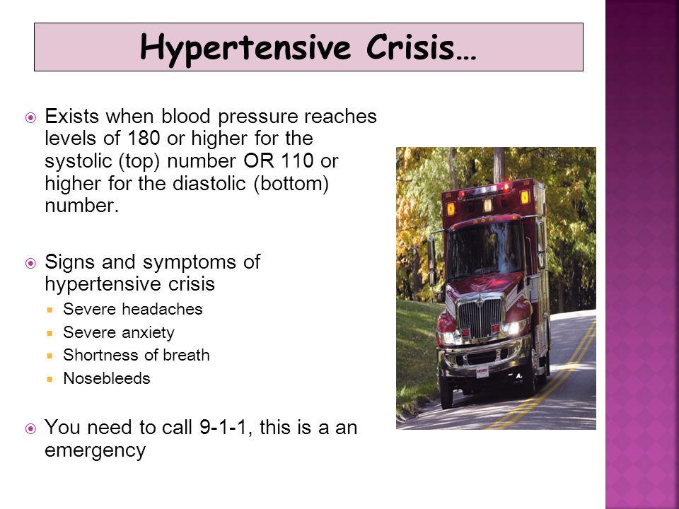 Hypertensive Crisis…