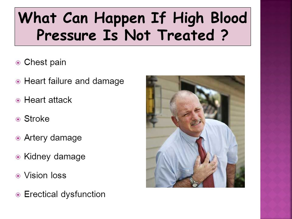 What Can Happen If High Blood Pressure Is Not Treated