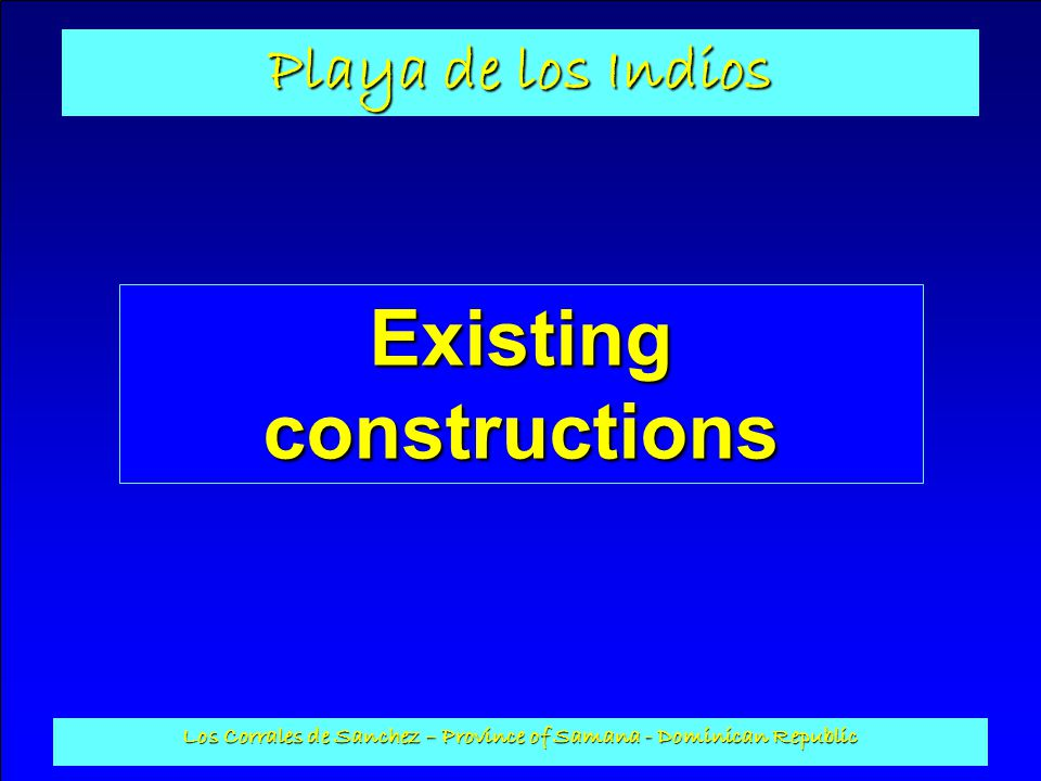 Existing constructions