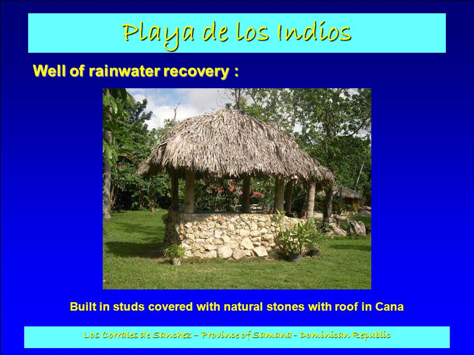 Well of rainwater recovery :
