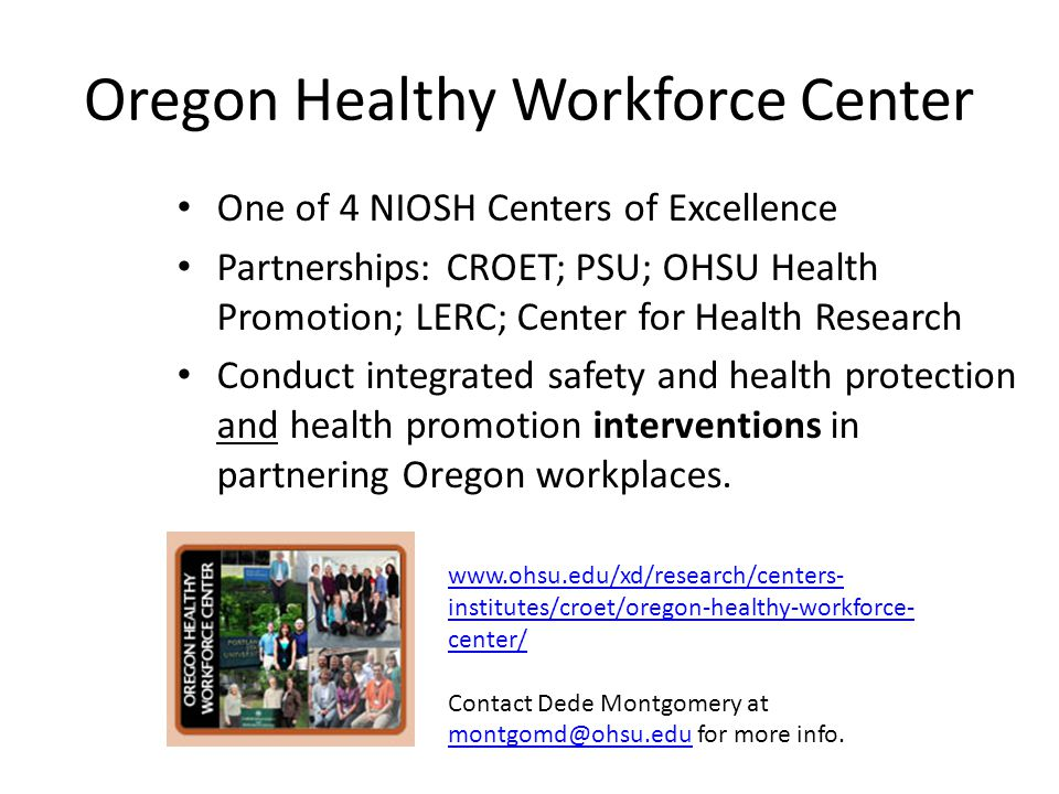 Oregon Healthy Workforce Center