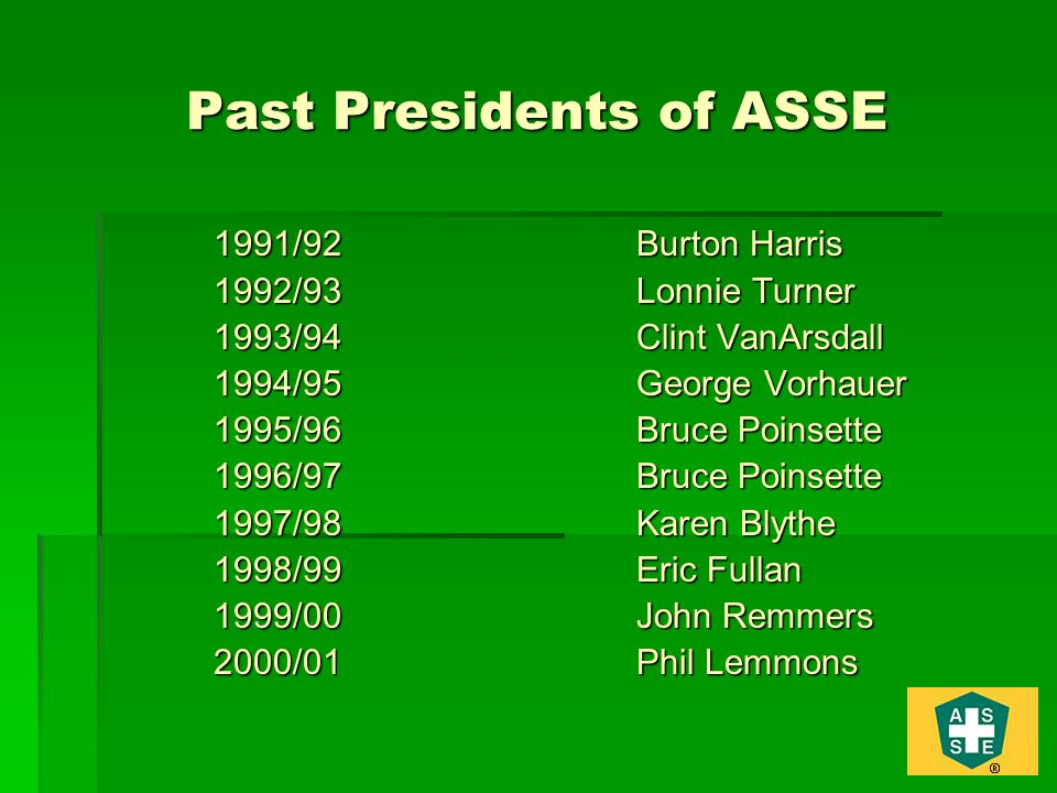 Past Presidents of ASSE