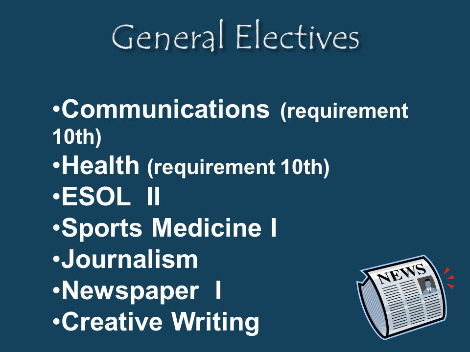General Electives Communications (requirement 10th)