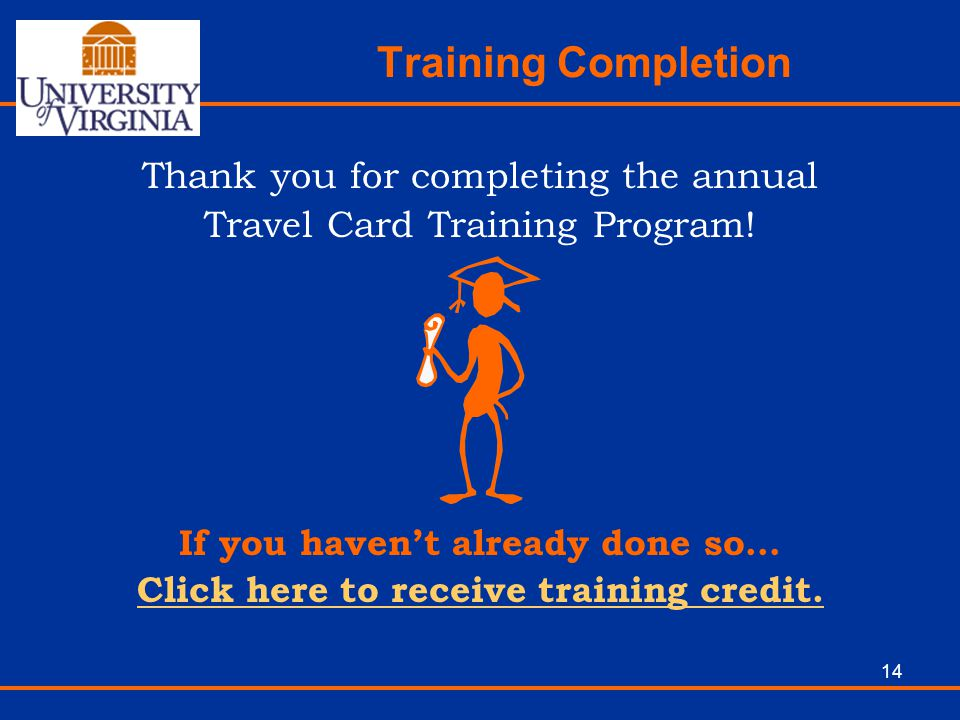 If you haven't already done so… Click here to receive training credit.