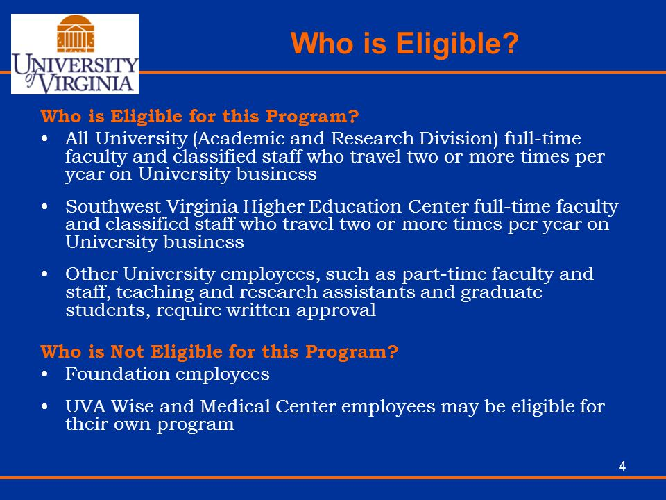 Who is Eligible Who is Eligible for this Program