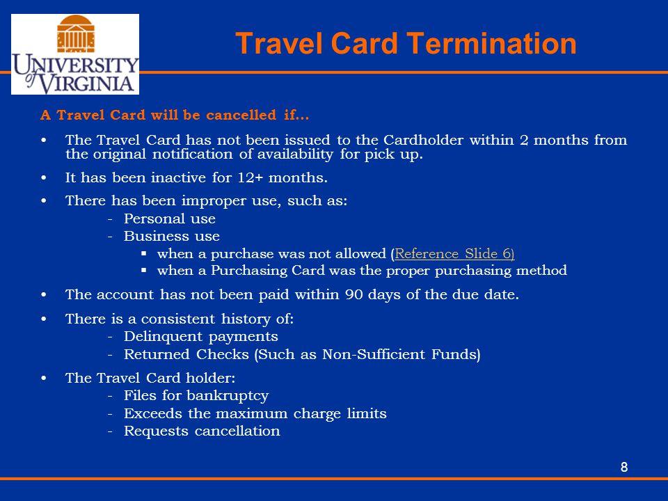 Travel Card Termination