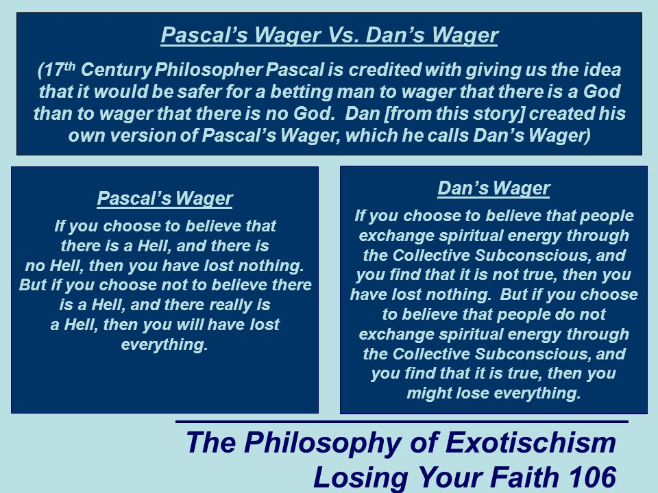 Pascal's Wager Vs. Dan's Wager