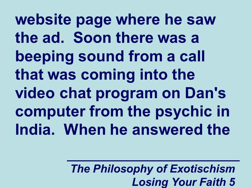 website page where he saw the ad