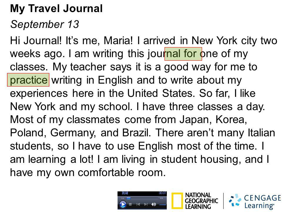 My Travel Journal September 13
