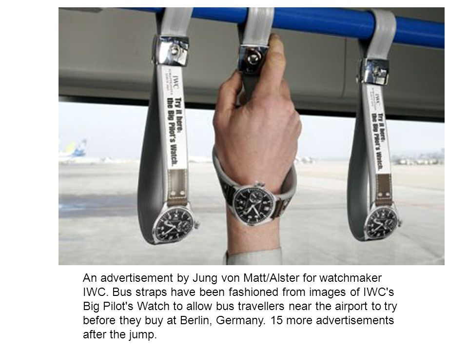 An advertisement by Jung von Matt/Alster for watchmaker IWC