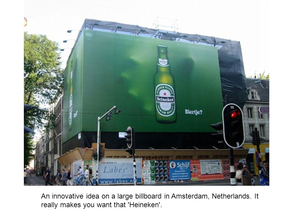An innovative idea on a large billboard in Amsterdam, Netherlands
