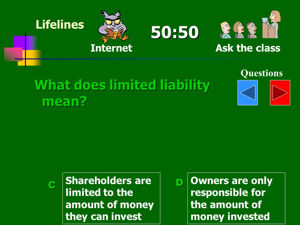 50:50 What does limited liability mean Lifelines Internet