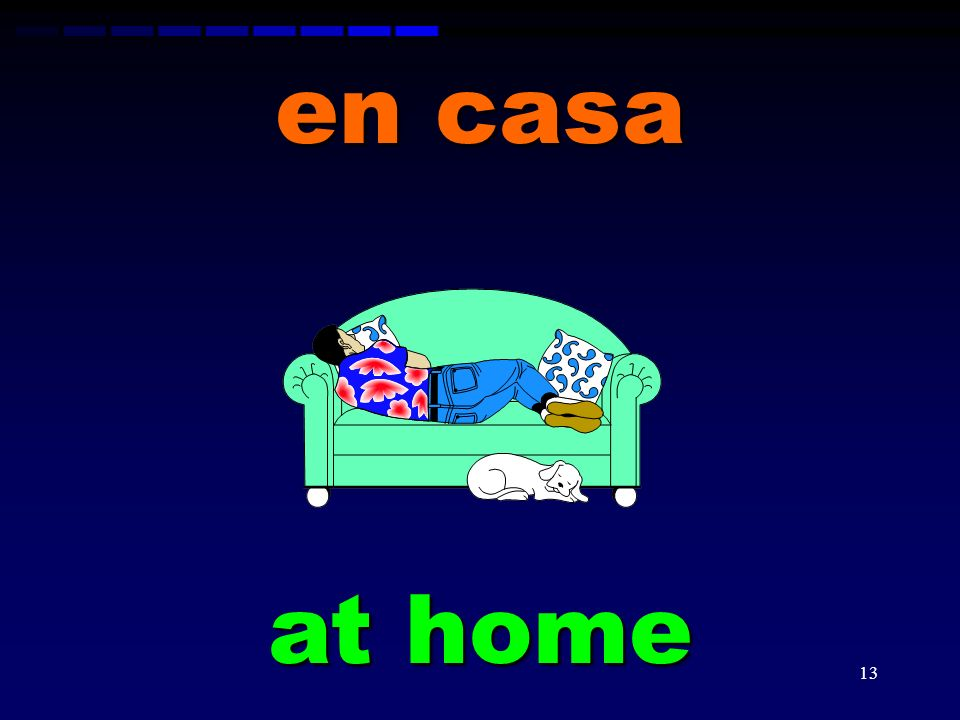 en casa at home