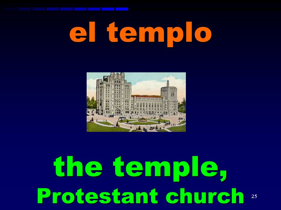 the temple, Protestant church