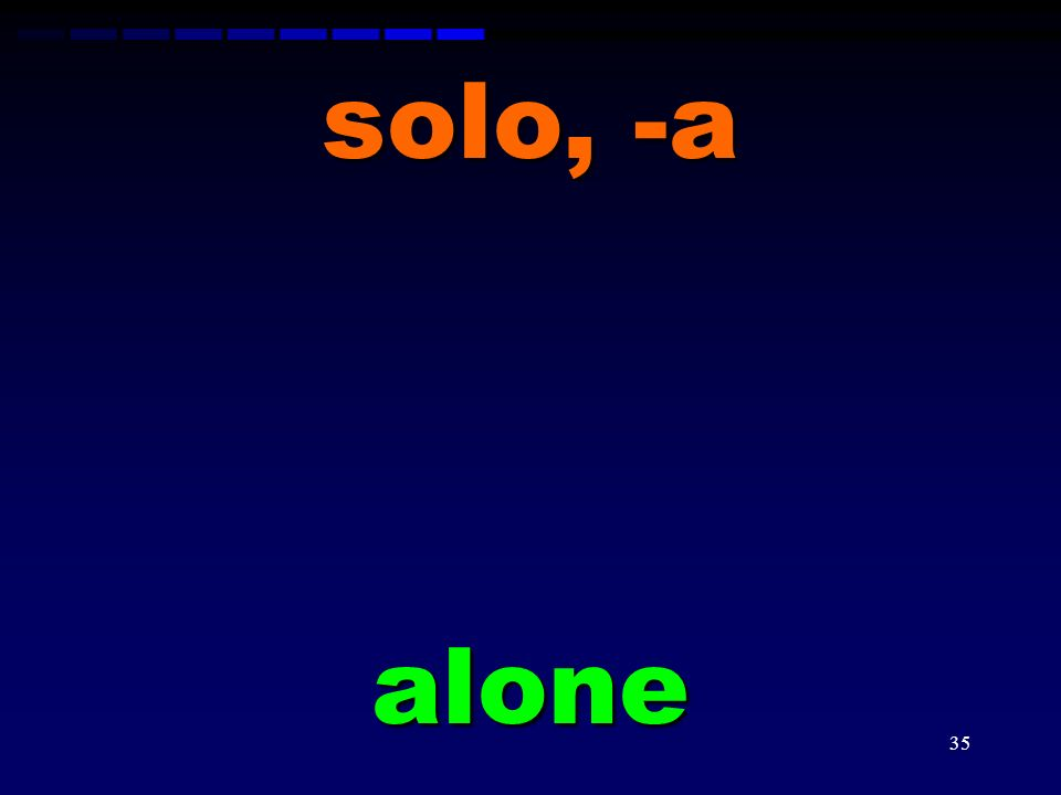 solo, -a alone
