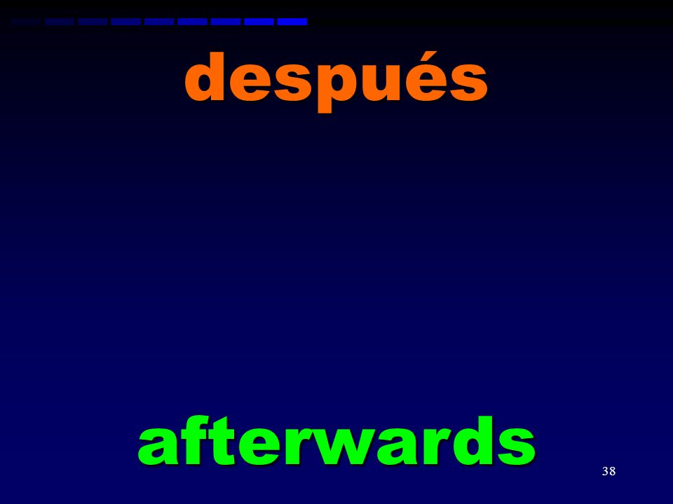 después afterwards