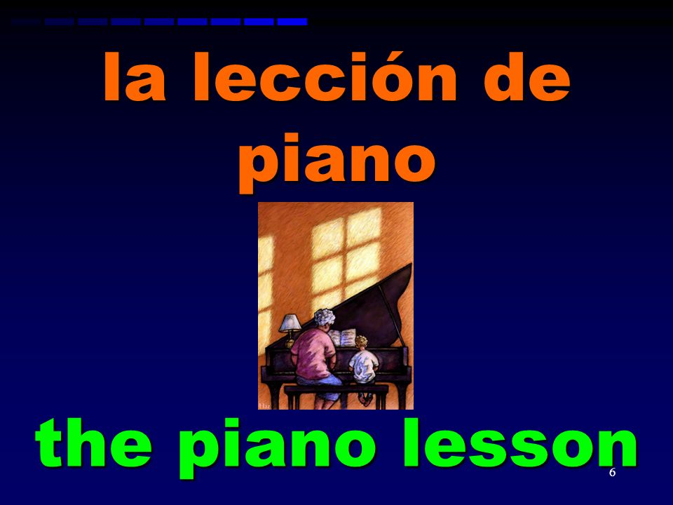 la lección de piano the piano lesson