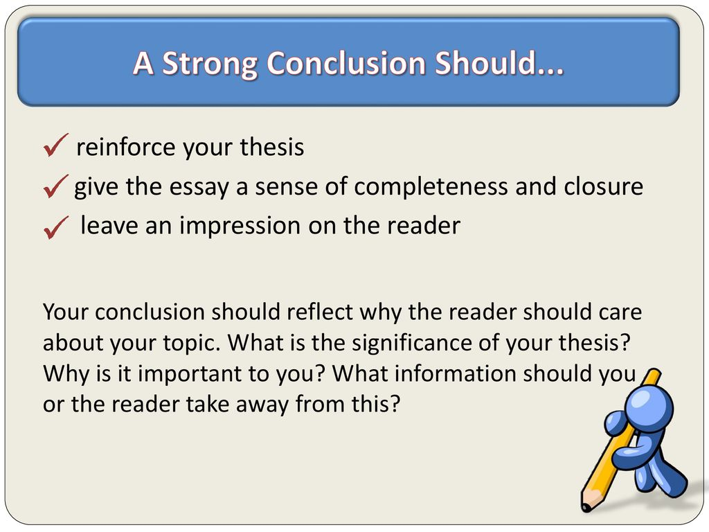 How to give a sense of closure in an essay