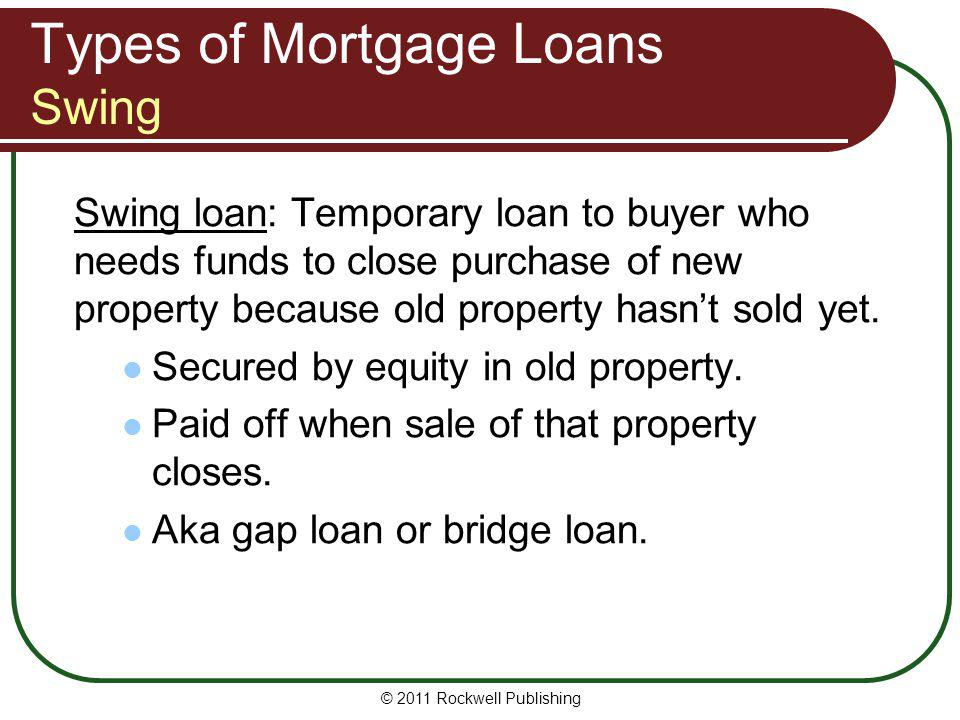 Types of Mortgage Loans Swing