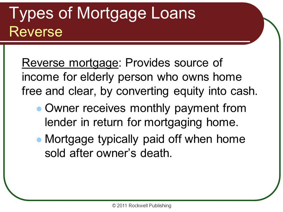 Types of Mortgage Loans Reverse