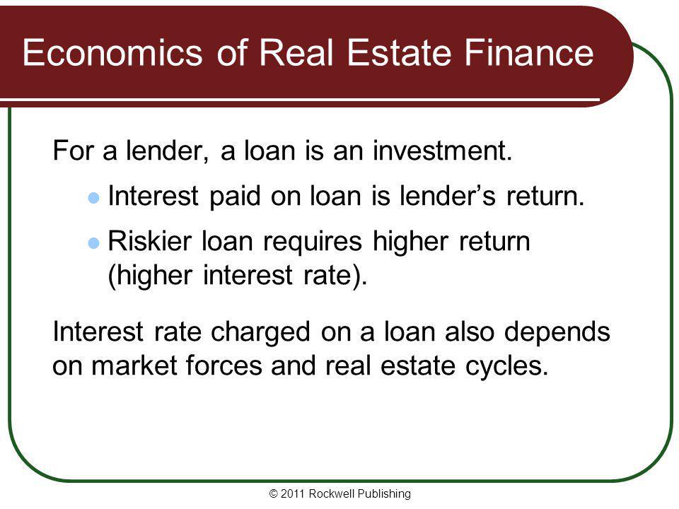 Economics of Real Estate Finance