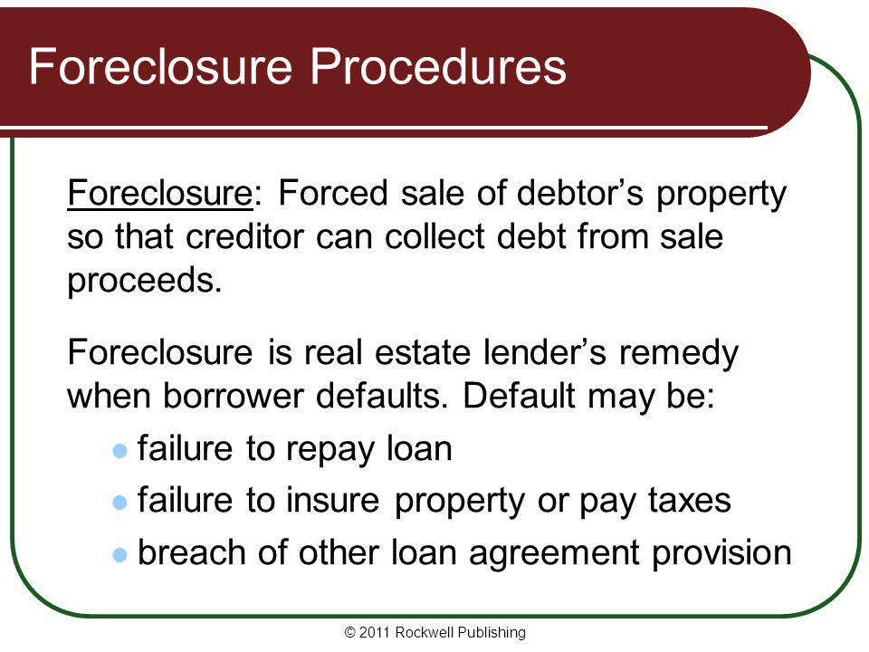 Foreclosure Procedures