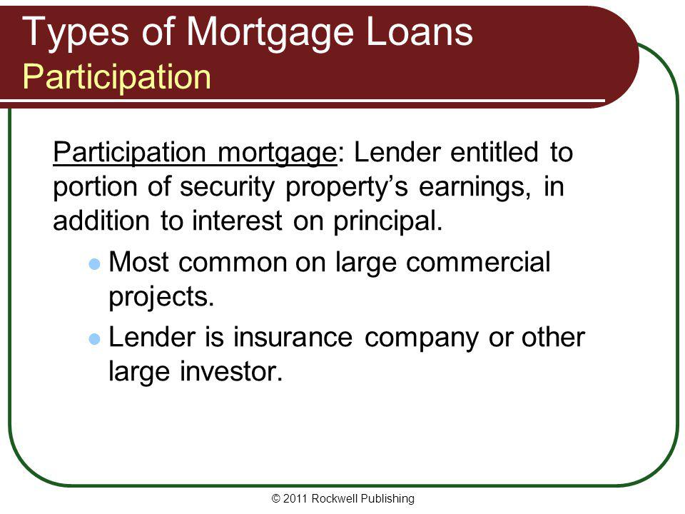 Types of Mortgage Loans Participation