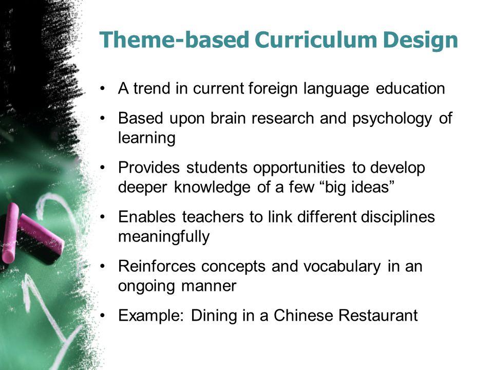 Theme-based Curriculum Design