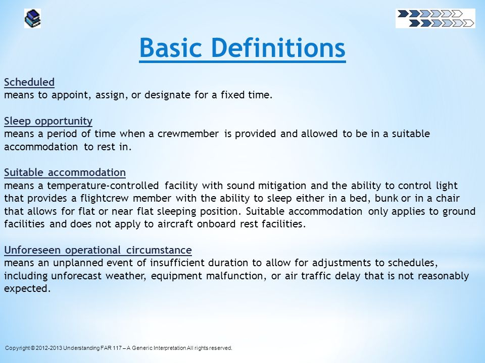Basic Definitions Scheduled