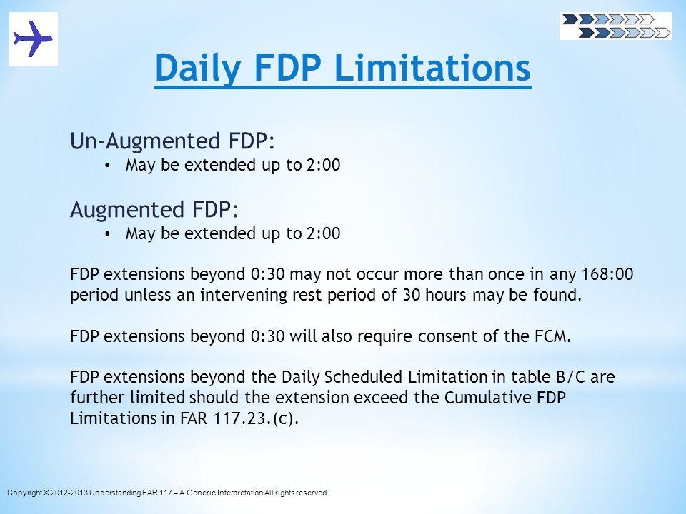Daily FDP Limitations Un-Augmented FDP: Augmented FDP: