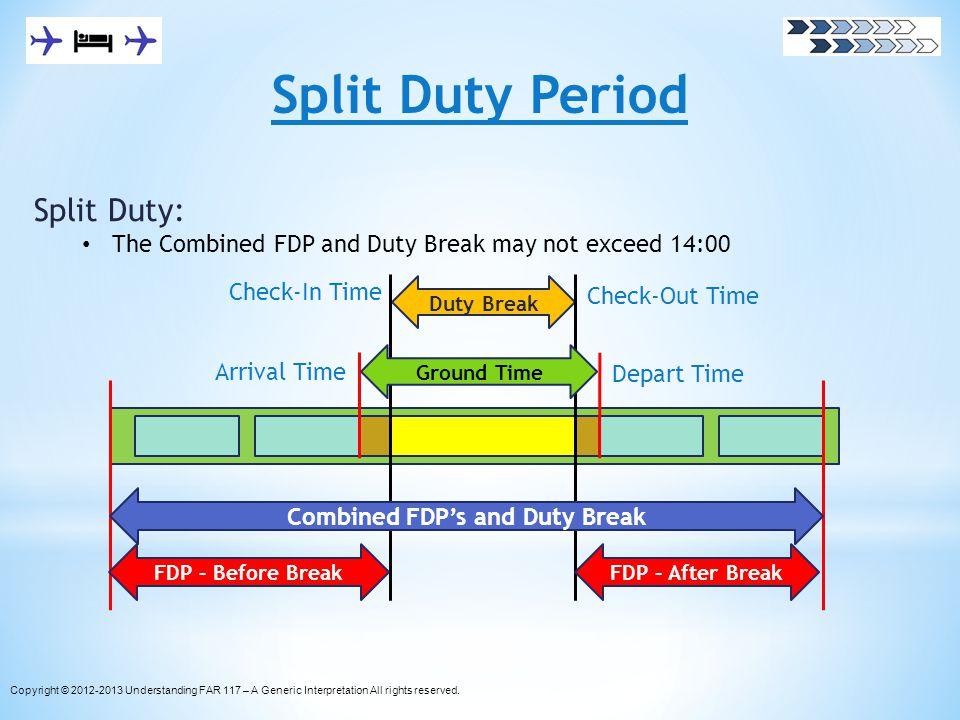 Combined FDP's and Duty Break
