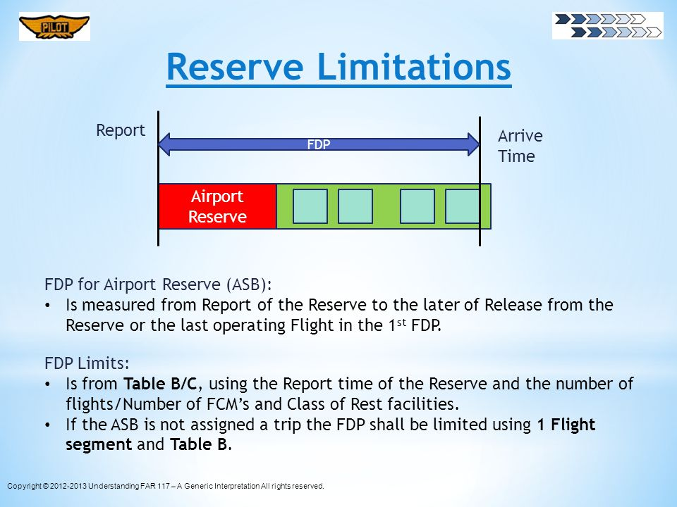 Reserve Limitations Report Arrive Time Airport Reserve