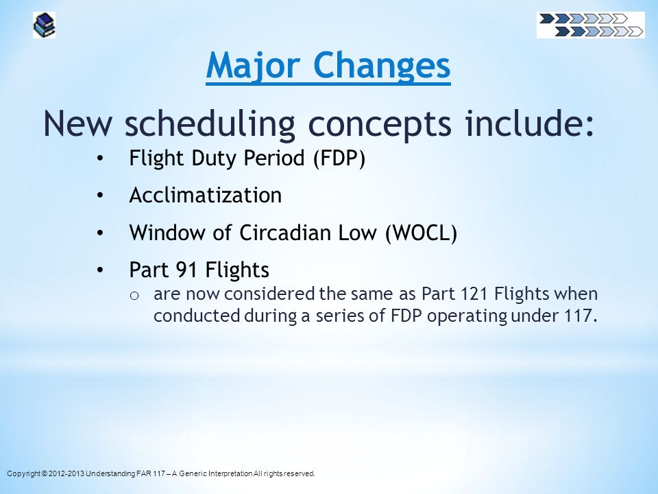 New scheduling concepts include: